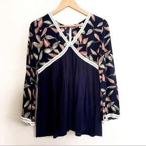 Cozy casual blouse, size M